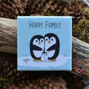 magnet carré famille mignon
