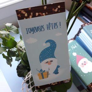 plaquette chocolat noel personnalisé lutin cadeau artisanal