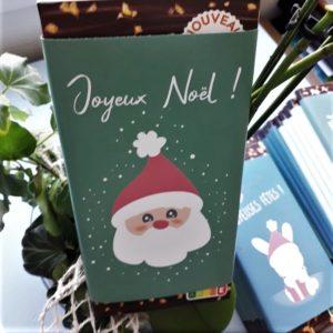 plaquette chocolat noel personnalisé pere noel cadeau artisanal